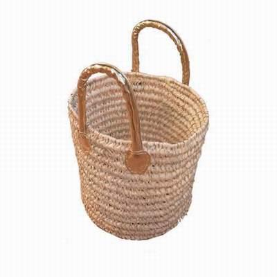 sac panier en osier sac osier souple sac osier et cuir. Black Bedroom Furniture Sets. Home Design Ideas